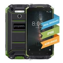 Глобальная версия разблокировать смартфон 9000 мА/ч poptel p9000max