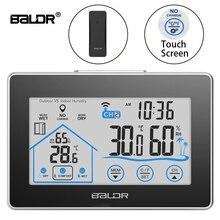 Baldr Draadloze Weerstation Touch Screen Thermometer Hygrometer Indoor Outdoor Weerbericht Sensor Kalender 3 Ch