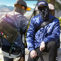 Game Coat Cosplay Jackets Men Blue Loose Bomber jacket Autumn Winter Male Streetwear Thick Baseball Uniform Clothes Plus Size