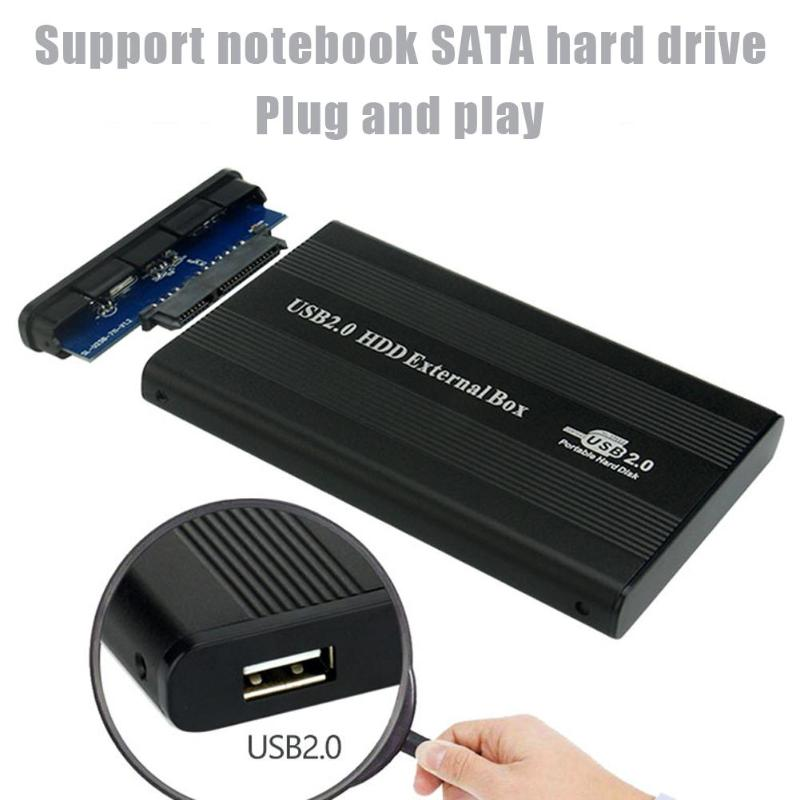 Case SATA Hdd-Disk-Box Aluminum-Alloy External Portable SSD USB2.0 To for Win8/Mac OS