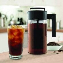 900 мл PC бутылка для воды с фильтром Iced Кофеварка герметичное уплотнение силиконовой ручкой дома гостиной кофе фильтр для чайника чайники