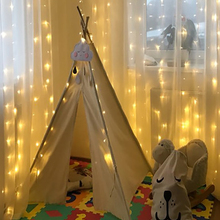 Tents Teepee Wigwam Room-Decoration Play House Tipi Indian Cotton-Canvas Kids Children's