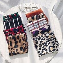 Kobiety szyi mały kwadratowy szalik 50*50 Polka Dot kwadratowy szalik Leopard jedwabny szalik DIY nowe style satynowe gumki do włosów opaski na szyję