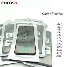 Écran tactile LCD avec lentille extérieure en verre polarisé, pour Samsung A02s A20s A21s A70s A11 A21 A31 A41 A51 A71