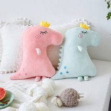 Factory Direct Ultra-Soft INS Net Red European And American-Style GIRL'S CROWN Dinosaur Doll Plush Toy Doll Pillow Cushion(China)