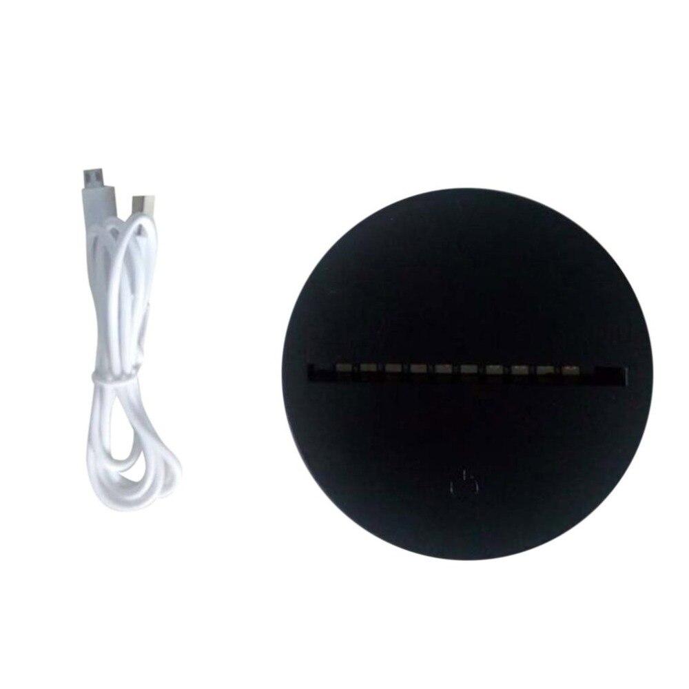 Светодиодный светильник для 3D иллюзии ночник 7 цветов дистанционный сенсорный выключатель управление Замена база для 3D настольные лампы