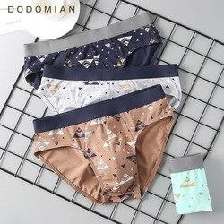 4 pçs/lote masculino impressão algodão briefs respirável flexível homewear shorts estereoscópico alfaiataria mais tamanho cuecas