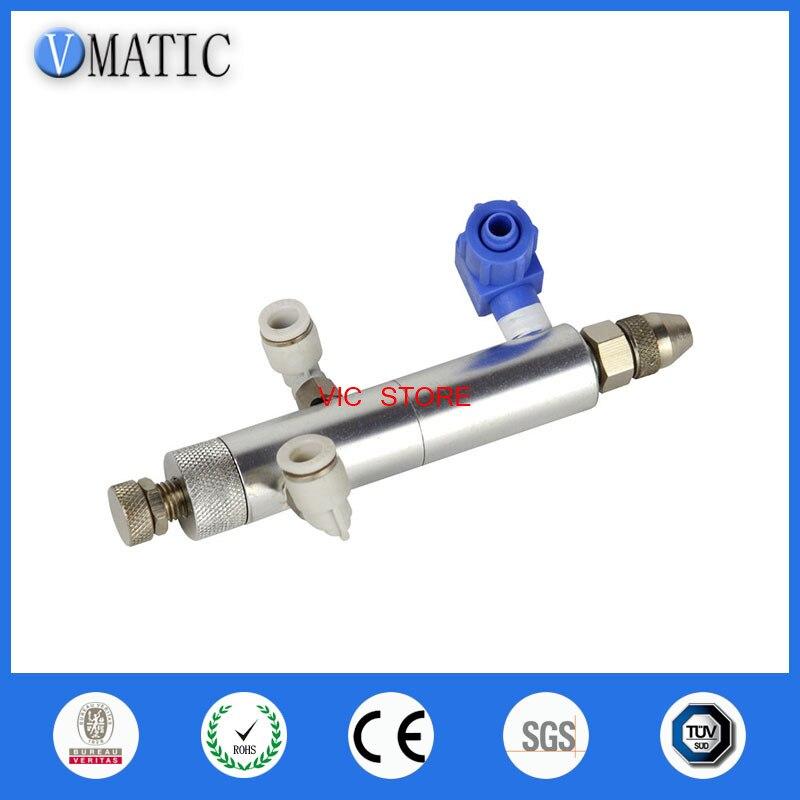 Бесплатная доставка двойного действия иглы из нержавеющей стали Дозирующий клапан клей Дозирующий клапан
