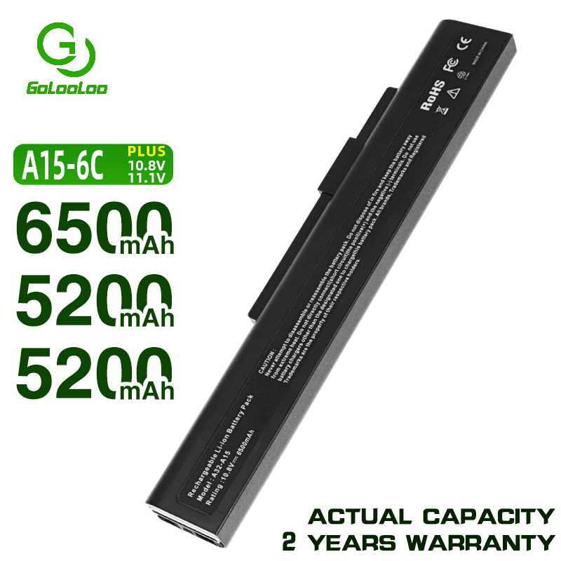 Golooloo  Laptop Battery For MSi A32-A15 A41-A15 CR640 CR640DX CR640MX CR640X CX640 CX640DX CX640X A6400 A42-A15 A42-H36