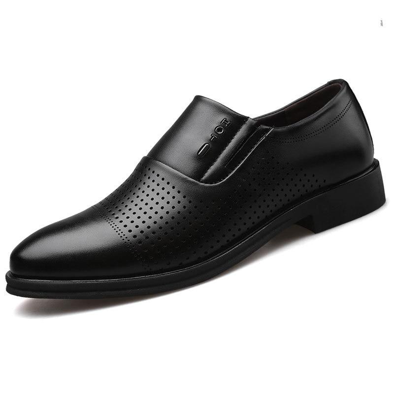 Fashion Slip On Men Dress Shoes Men Oxfords Fashion Business Dress Men Shoes  New Classic Leather Men'S Suits Shoes Tyu7