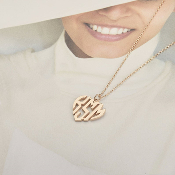 Tiny Heart Necklace Name Choker Necklace For Women Pendant Stainless Steel Initial Gold Necklace Bridesmaid Accessories Gift bff gorgeous bell pendant choker necklace for women