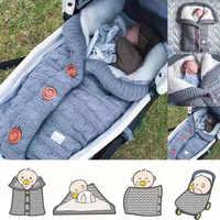 Cobertor quente macio bebê saco de dormir footmuff algodão tricô envelope recém nascido menino menina swad envoltório acessórios sleepsacks moda