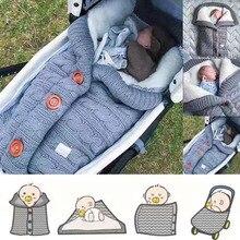 Warm Blanket Soft Baby Sleeping Bag Footmuff Cotton Knitting Envelope New Born Boy Girl Swad Wrap Accessories Sleepsacks Fashion