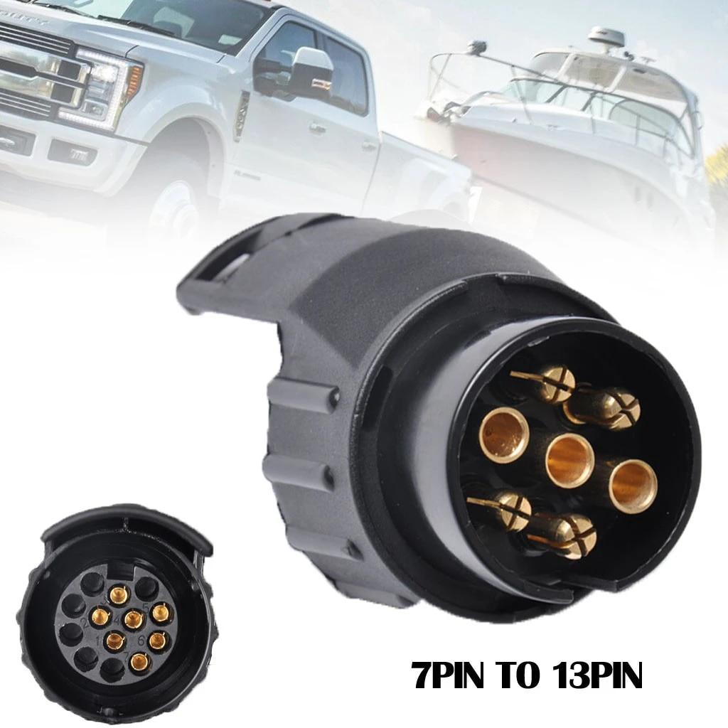 MACHSWON 13 Pin to 7 Pin Trailer Plug Converter Adapter Caravan Towing Plug Adapter Cable