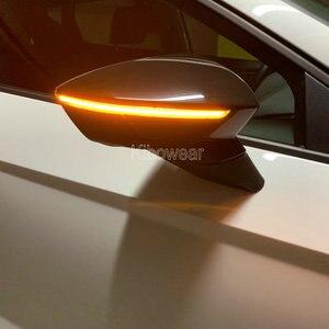 Image 5 - الوامض الديناميكي ل سيات ليون III 5F ST FR Cupra Arona KJ7 LED بدوره إشارة مرآة مؤشر ضوء 2013 2014 2015 2017 2018