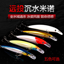 Bassland fishing lure sinking minnow hard lure metal jigging lures silicone bait artificial wobbler for bass goods for fishing 1pcs lure for fishing metal pencil 8cm 13 6g jigging wobblers winter fishing all goods for fish lures artificial bait luminous