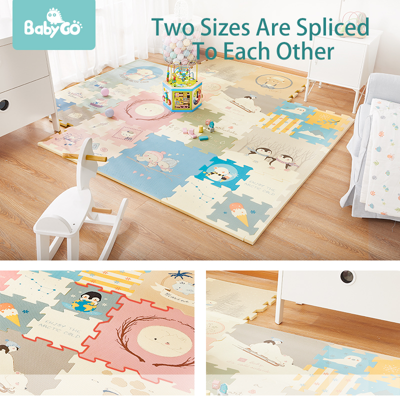 BabyGo Puzzle Baby Play Mat XPE Foam Waterproof 2cm Thickened children s Carpet Crawling Pad Living BabyGo Puzzle Baby Play Mat XPE Foam Waterproof 2cm Thickened children's Carpet Crawling Pad Living Room Activity Floor Mat
