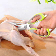 Multifunctional Stainless Steel Kitchen Scissors with Magnetic Attraction Strong Chicken Bone Scissors Refrigerator Scissors wlxy wl 9016z multifunctional stainless steel scissors green black silver