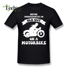 Never underestimate an old guy on a motorbike T Shirt Fashion Tee Boy Geek 3D Print For Man Round Neck Tees neck hammock for women man girl boy and so on