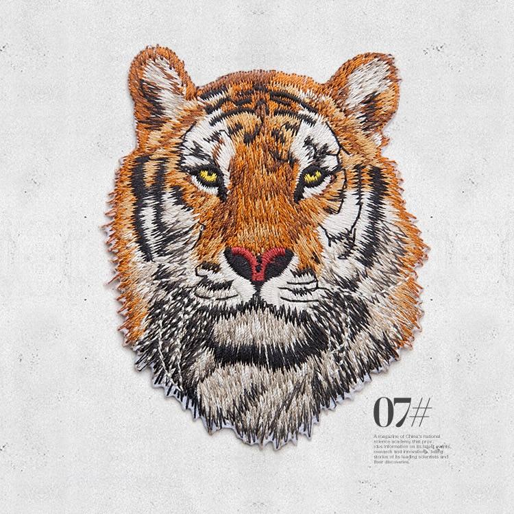 Lion Tigre éléphant Fer//Coudre Sur Brodé Patch Motif Craft Fix Mend cover