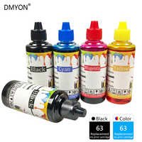 DMYON 63 Ink Refill Kit Compatible for Hp 63 Officejet 1110 1111 1112 2130 2131 5212 5220 5230 5232 5252 5255 5258 5264 Printer