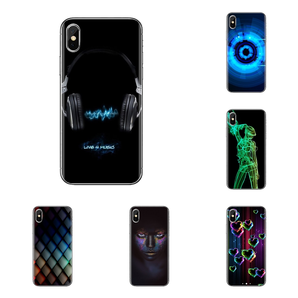 Neon Girl 3d Wallpaper Soft Transparent Cases Covers For