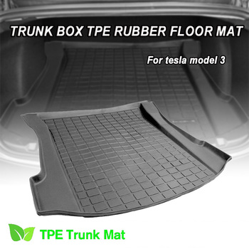 TPO Rear / Front Trunk Cover Mat Compatible Non-slip Anti Dust Waterproof Cargo Tray Trunk Car For Tesla Model 3 hot car front trunk storage mat cargo tray trunk waterproof protective pads compatible for subaru xv forester outback 2019