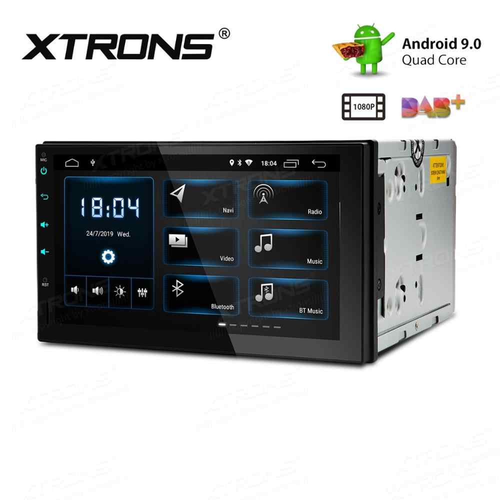 "7 ""Android 9.0 Pie OS Double Din Mobil Multimedia 2 DIN Mobil GPS Navigasi 2 DIN Mobil Radio dengan penuh RCA Output Dukungan"