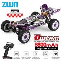 WLtoys 144001 124018 124019 2.4G Racing RC Car 60 KM/H 4WD elettrico ad alta velocità fuoristrada Drift telecomando giocattoli per bambini