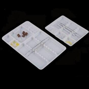 100PCS Dental plastic pallets tray segregated placed 285*186*17CM dental instruments appliances Dental consumable SL408