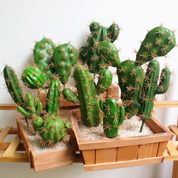 Foreign Trade Excellent Products Artificial Succulent Plant Cactus Green Plant Desktop Creative DIY Fake Plant Table Holiday image