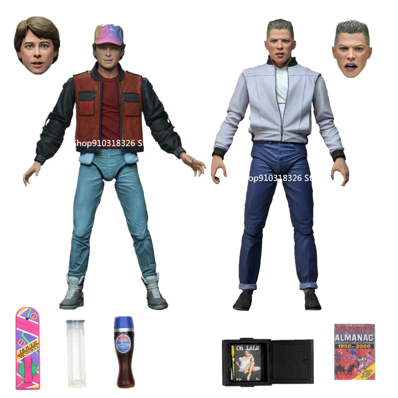 Originale Neca Back to the Future fantascienza classico Martin Action Figure sport annuale Ultimate Biff abbronzen Action Figure regalo giocattolo
