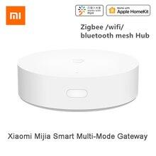 Умный шлюз Xiaomi Mijia с многомодовым голосовым дистанционным управлением, Автоматизация работы с ZigBee, Wi Fi, Bluetooth, сетчатые смарт устройства связи