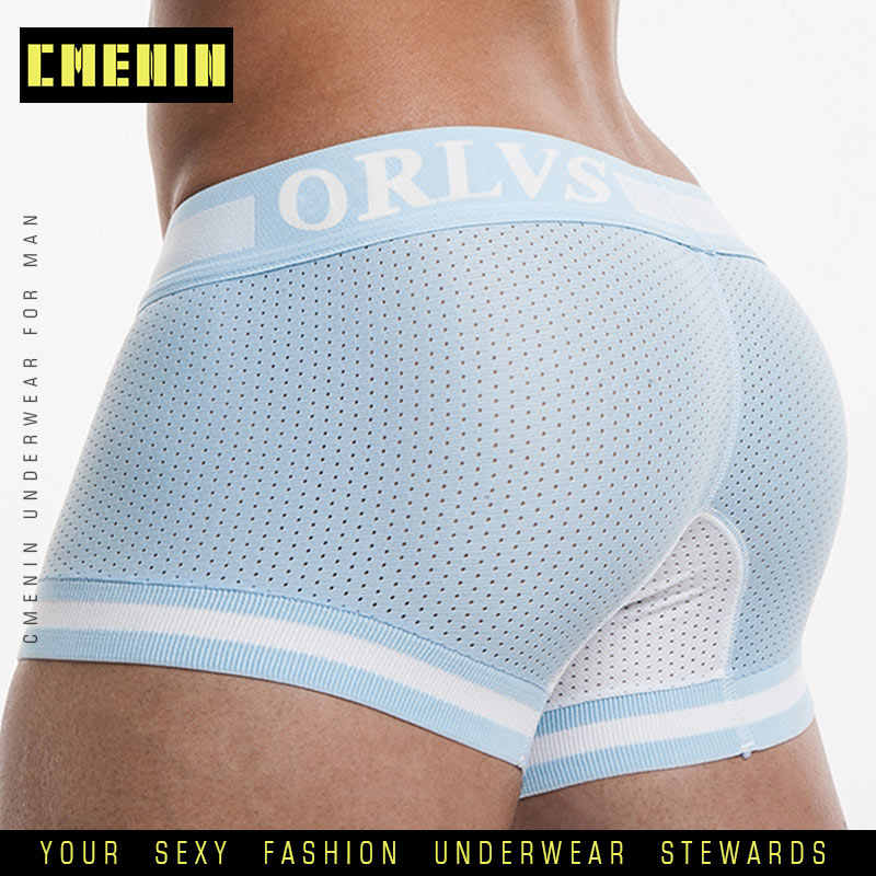 OR Underwear Brand Mesh Mens Underwear Cotton Boxers Underpants Breathable Boxer Shorts Men Panties Sexy Male Underwears cueca