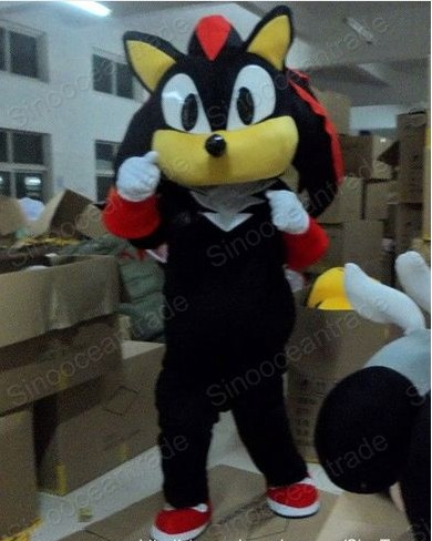 Factory Direct Sale Hedgehog Black Sonic Doll Mascot Costume Adult Halloween Birthday Party Cartoon Apparel Cosplay Costumes