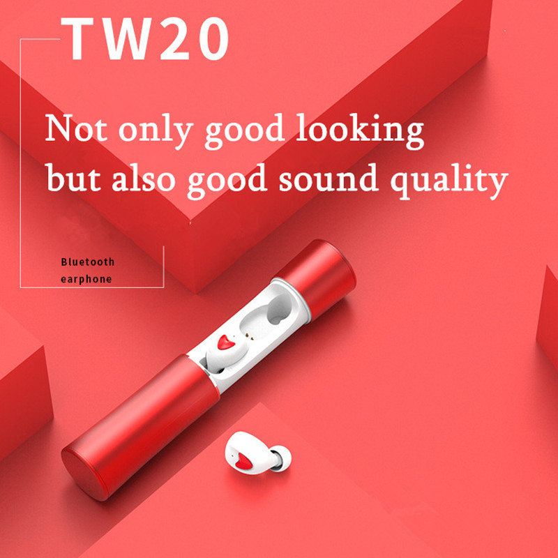 New <font><b>tws</b></font> Bluetooth Earphone 5.0 Metal Trolley Private Mode Wireless in-ear Stereo <font><b>15</b></font> Meters Stable Link Four Colors Optional image