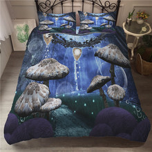 A Bedding Set 3D Printed Duvet Cover Bed Set Fairy Mushroom Home Textiles for Adults Bedclothes with Pillowcase #MG09 шторы тканевые seven fairy home textiles 6036 5