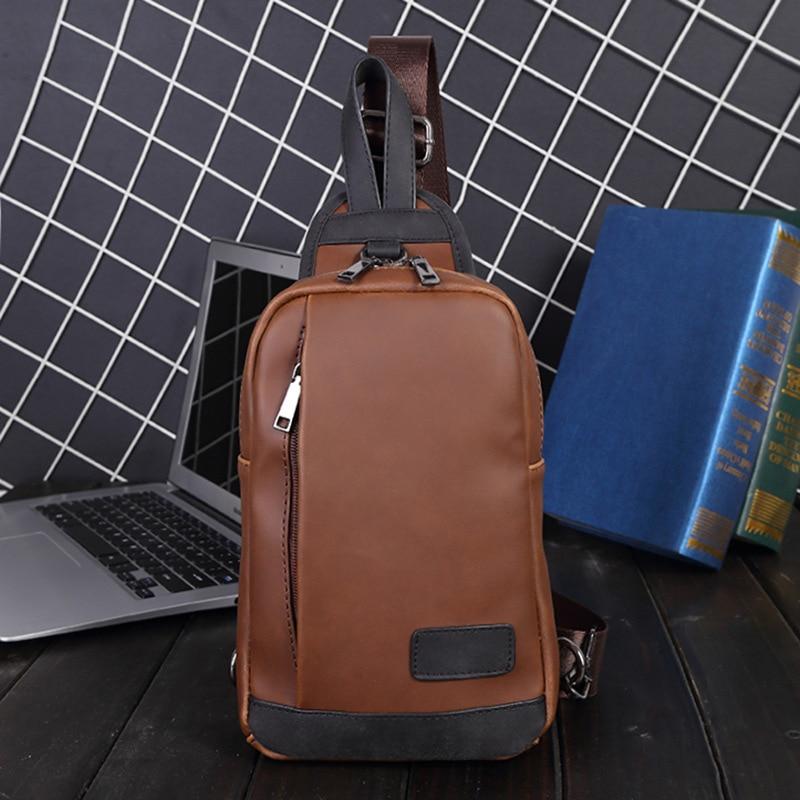 Mobile Phone Bag South Chest Bag PU Leather Shoulder Bag