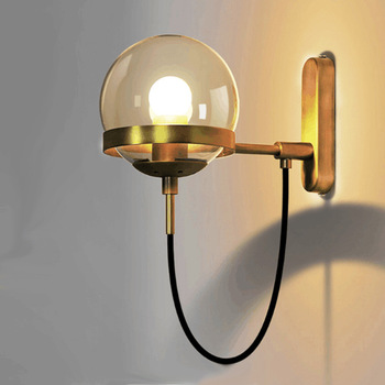 and contracted sitting room wall lamp LED hallway stairs magnifying glass glass wall lamp of bedroom the head of a bed