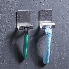 Soporte de maquinilla de afeitar de acero inoxidable 304 para hombre, estante para afeitadora, estante para maquinilla de afeitar, baño, ganchos de pared de viscosa para el hogar, 1 ud.