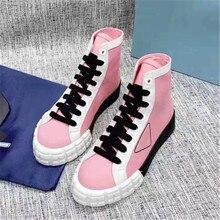 รองเท้าผ้าใบผู้หญิงรองเท้า Zapatos De Mujer ผสมสี Scarpe Donna แฟชั่นหญิงรองเท้าผู้หญิงเรขาคณิตรองเท้าผ้าใบ Zapatillas