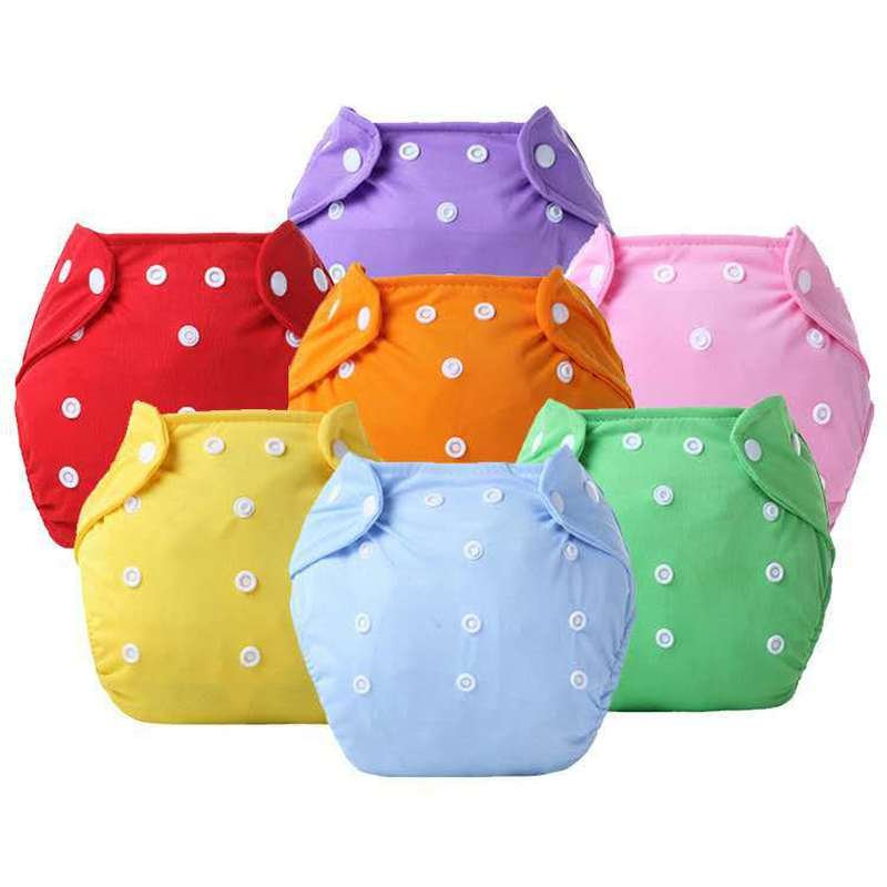 1PC Adjustable Reusable Baby Boys Girls Cloth Diapers Soft Covers Infant Washable Nappies Leak-proof Breathable Cloth Diapers