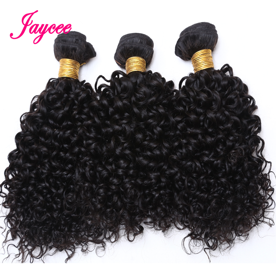 10a Mongolian Kinky Curly Hair Extension 3 PCS Human Hair Bundles Weave Tissage Cheveux Humain Hair Extension Free Shipping