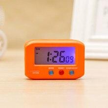 Портативный карманный цифровой электронный будильник для путешествий, автомобильный электронный секундомер, ЖК-часы с подсветкой повтора