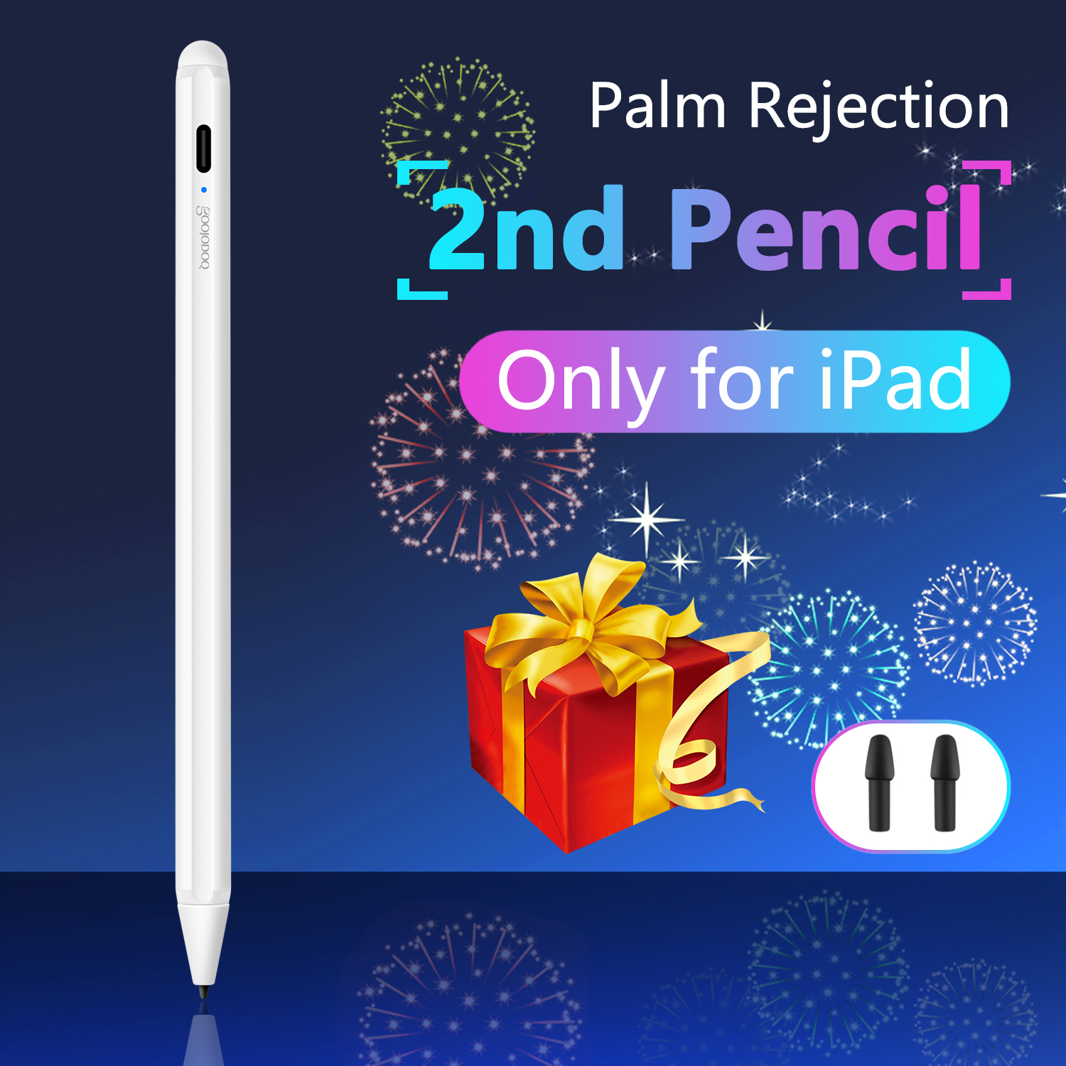 GOOJODOQ Pen for iPad 10.2 2019 Pro 11 Pencil for iPad Pro 12.9 9.7 2018 for iPad Air 3 Mini 5 Stylus Pen For Apple Pencil 2-in Tablet Touch Pens from Computer & Office  1