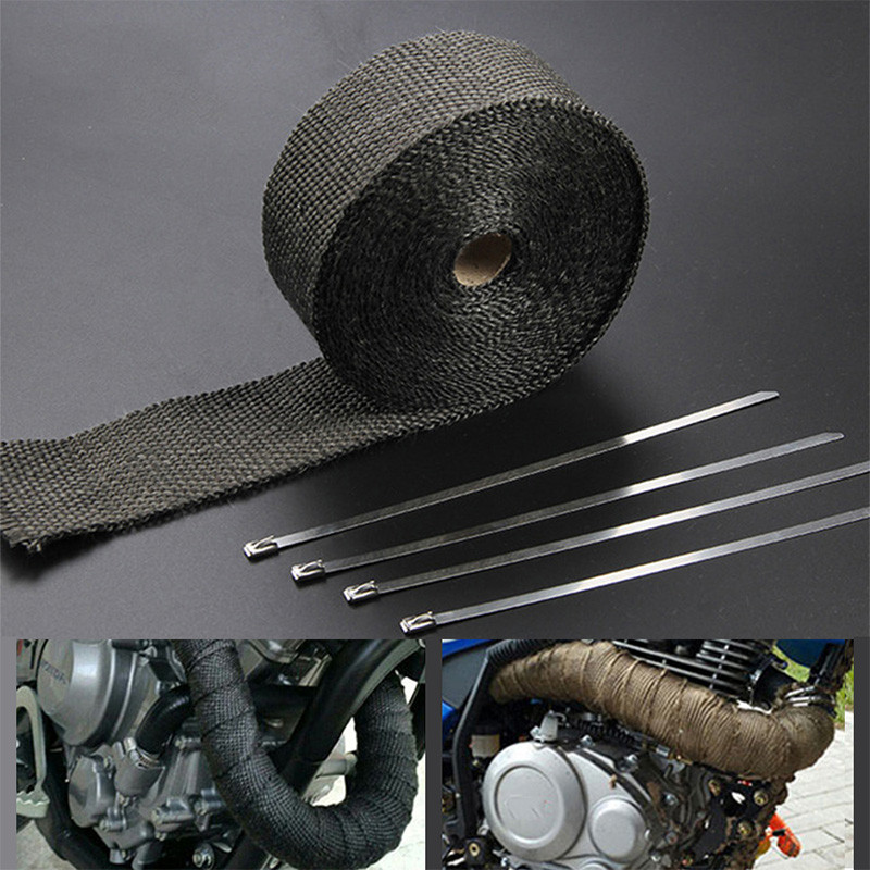 Motorcycle Exhaust Tape Wrap Covers For YAMAHA raptor 350 fz6 nmax 155 cygnus x125 <font><b>xvs</b></font> <font><b>1100</b></font> xt660 r6 2017 xj600 fz16 dt 125 image