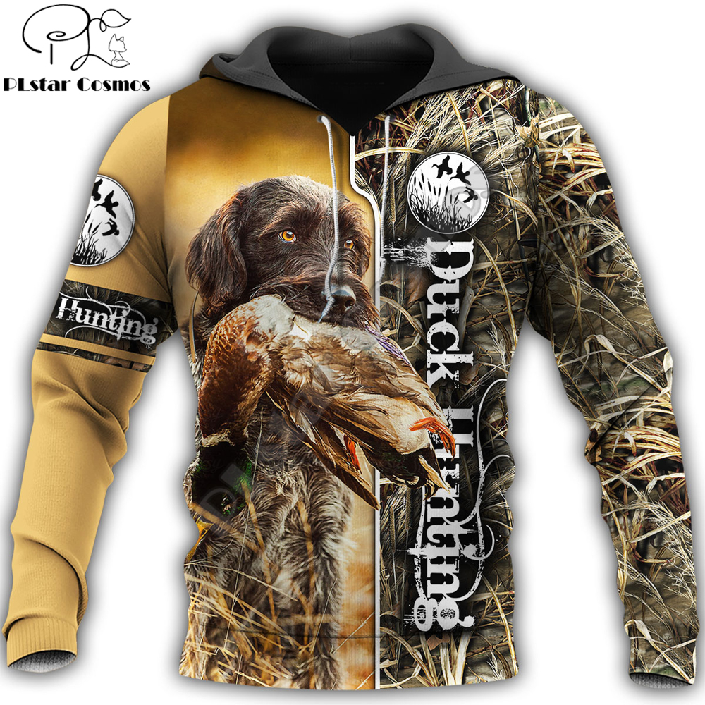 2020 Fashion Men Hoodie animal Duck Hunting 3D Printed Harajuku Sweatshirt Unisex Casual Pullover hoodies sudadera hombre KJ087