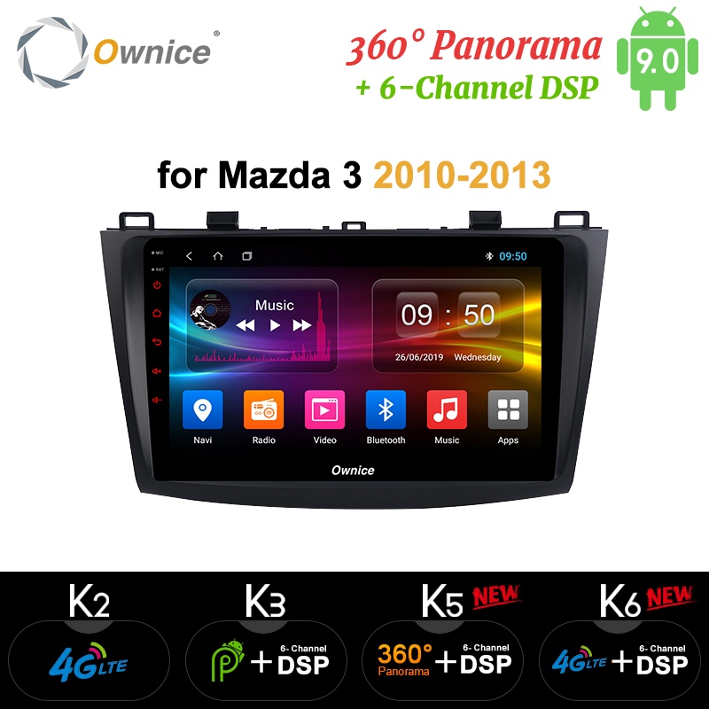 Ownice 2 din Octa Core Android 9.0 k3 k5 k6 <font><b>Car</b></font> DVD Player Auto <font><b>radio</b></font> GPS Navi for <font><b>Mazda</b></font> <font><b>3</b></font> <font><b>2010</b></font> 2011 2012 2013 DSP 4G LTE SPDIF image