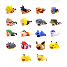 CHIPAL Cute Anime Bite Wire Winder for iPhone USB Cable Protector Organizer Chompers Cartoon Animal Bites Line Holder Accessory