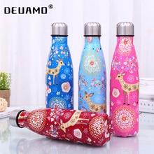 Water-Bottle Deer Portable Travel Stainless-Steel Insulated 500ml Cartoon Cute Gift Vacuum-Cup